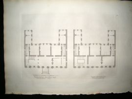 Vitruvius Britannicus C1720 Architectural Plan. First Story, Powis House
